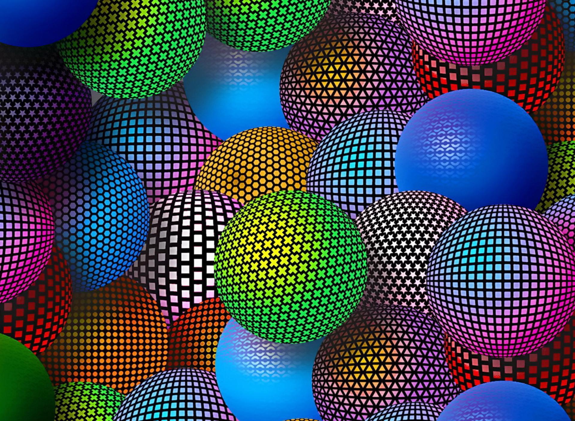 Fondo colorido con circulos en 3D