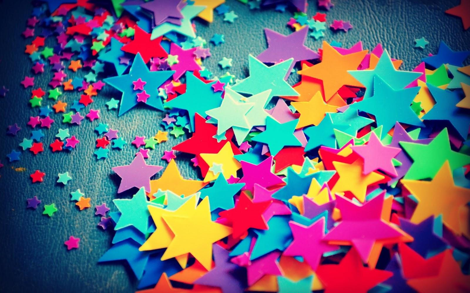 Wallpaper de estrellas de colores tumbrl