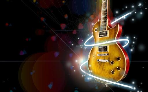 Fondo de guitarra electrica y el amor
