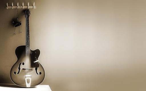 fondo retro de una guitarra electrica
