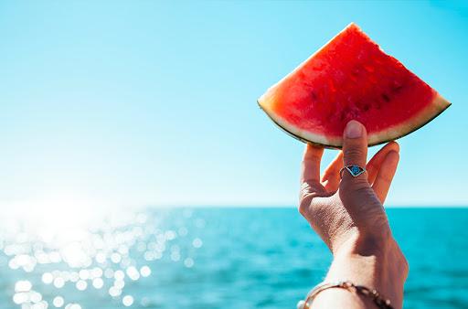 Sumer sandia verano y playa