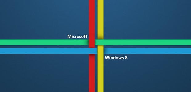 Fondo azul con colores de Windows 8