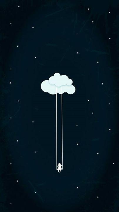 fondo de celular nube