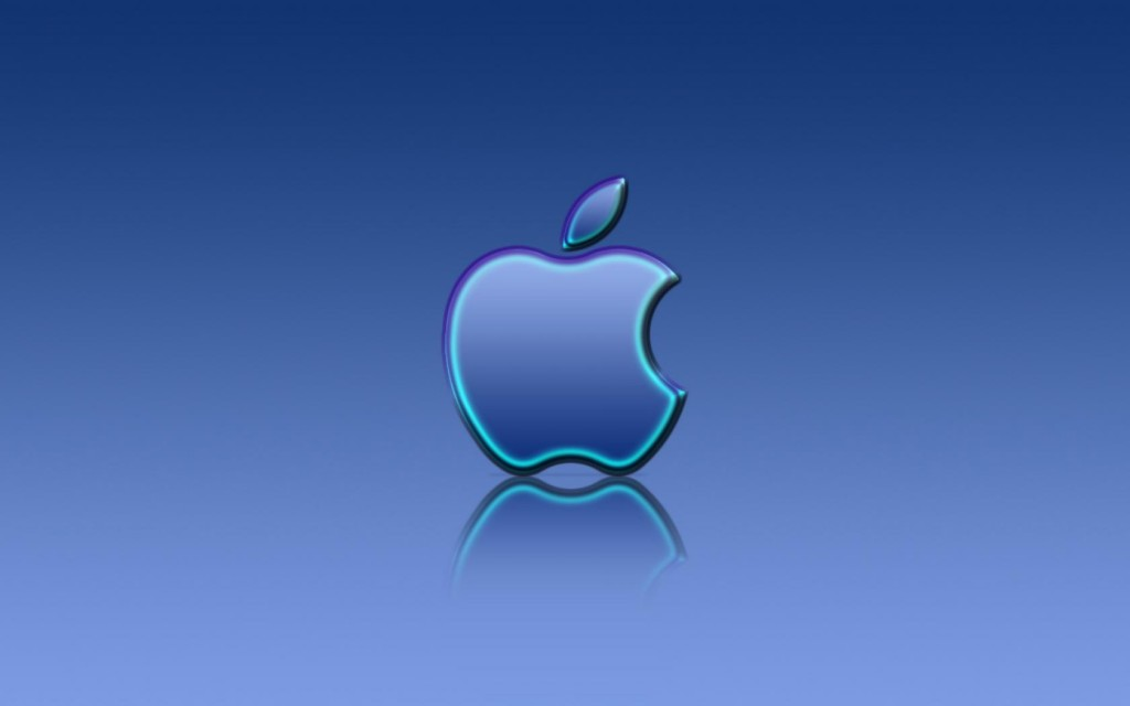 Apple_Blue_Reflexion_1680 x 1050 widescreen
