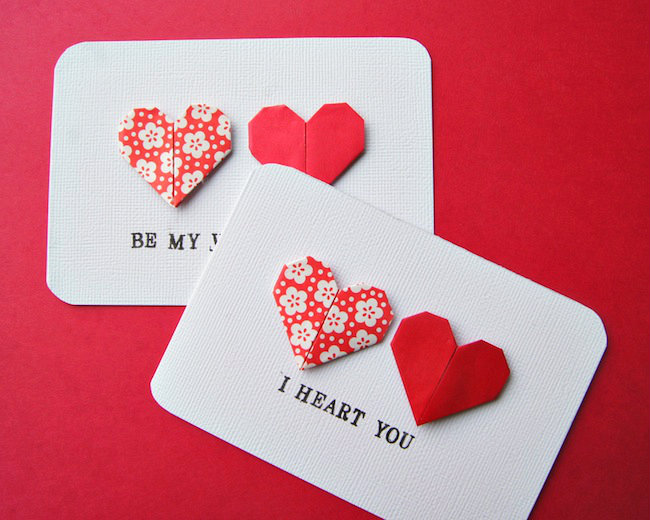 cómo hacer tarjetas de san valentín paso a paso