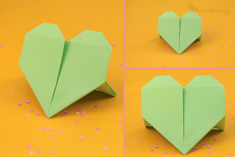 como hacer un corazon en origami 3d paso a paso