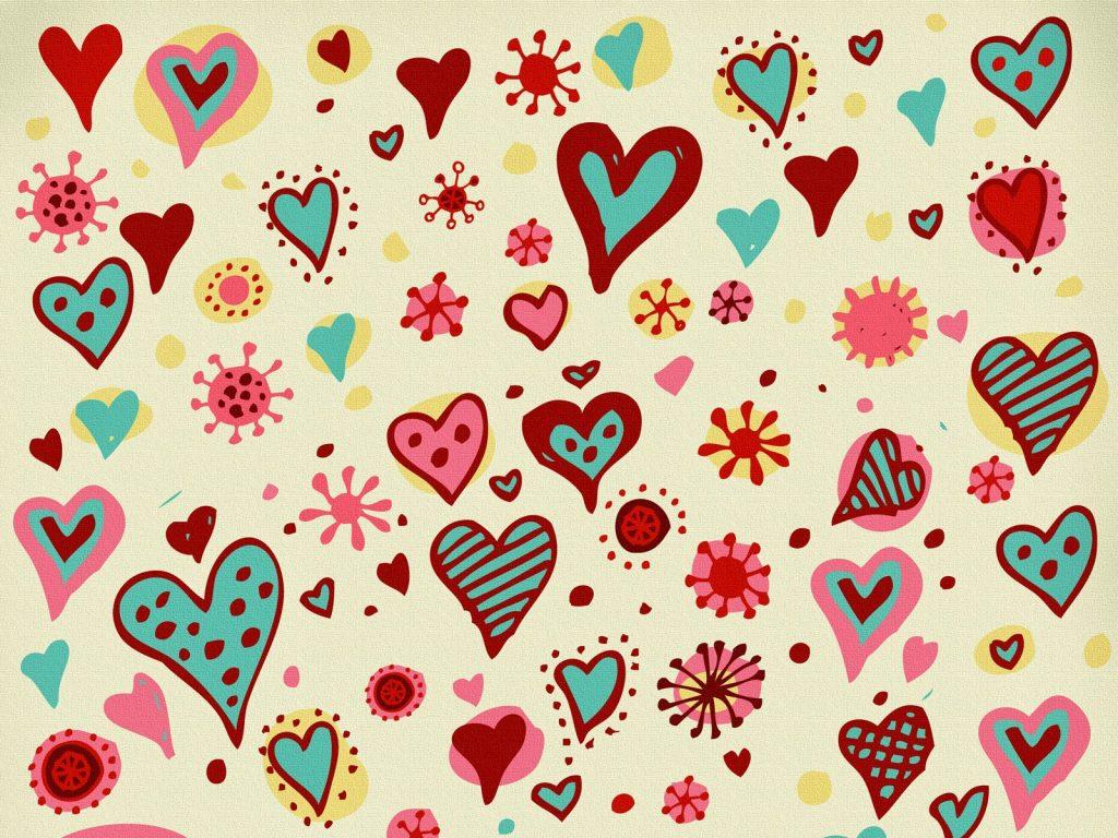 fondos de pantalla animados de corazones de colores con movimiento