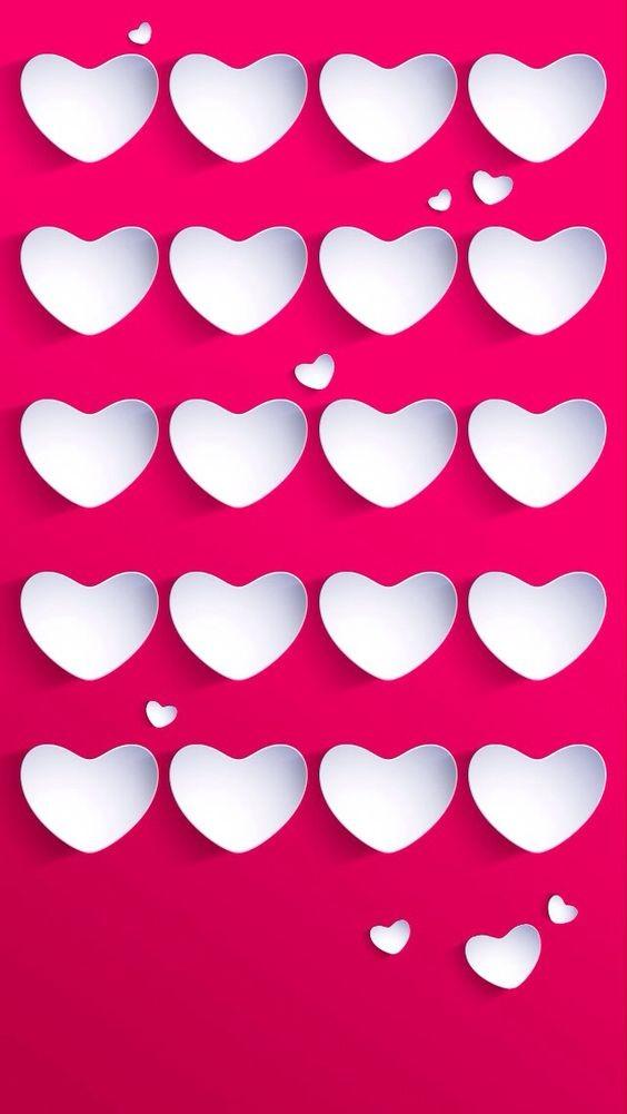 fondo de pantalla para celular con corazones