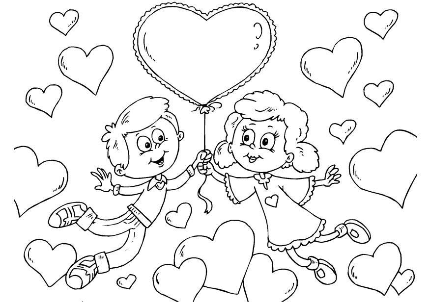 imagenes de san valentin para colorear faciles