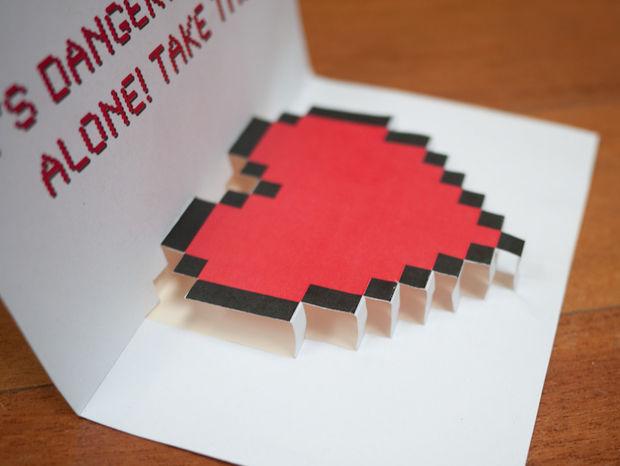 plantilla de tarjeta de corazon en 3d