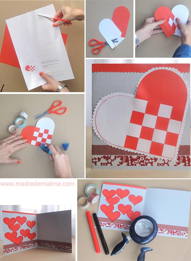tarjetas de san valentin manualidades paso a paso
