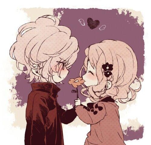 imagenes de anime kawaii de amor