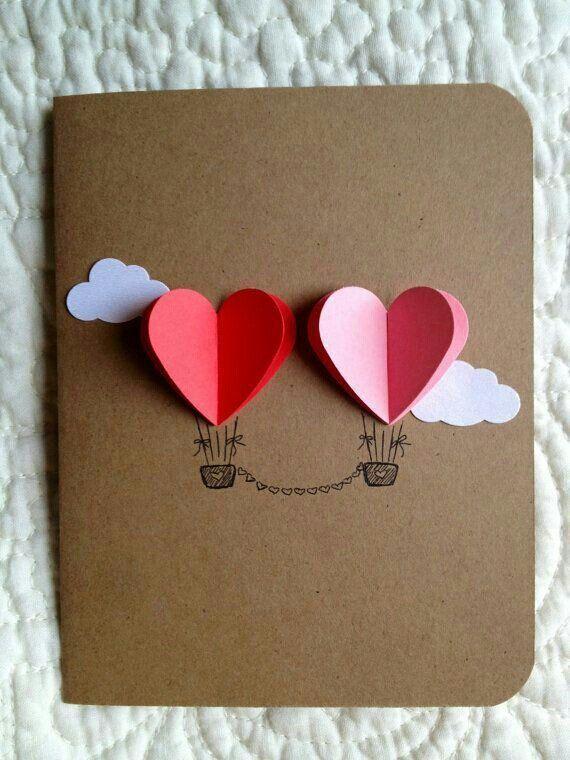 tarjetas de san valentin manualidades corazon