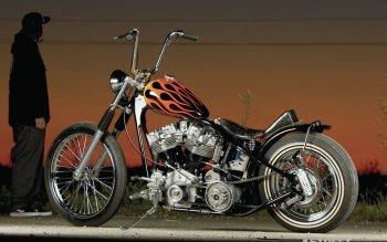 Fondo motocicleta Chopper