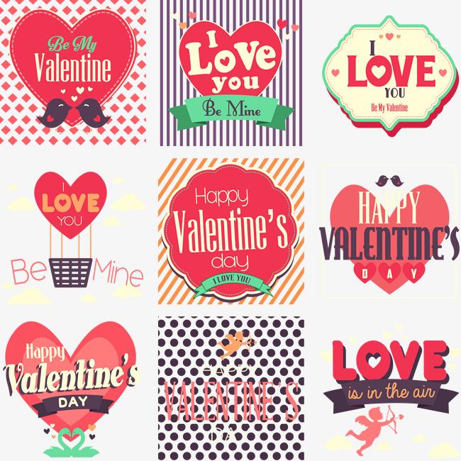 vectores de san valentin gratis