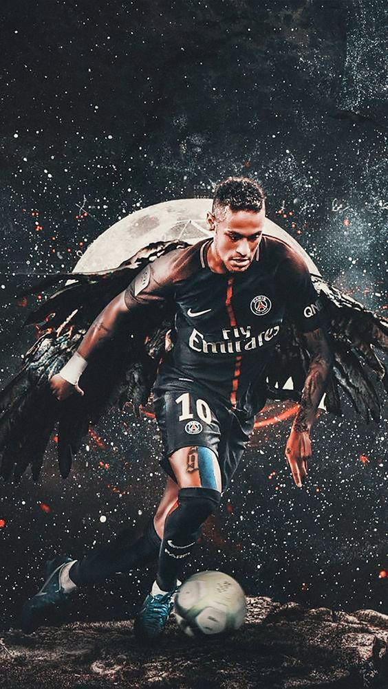 Fondo de futbol con Neymar Jr
