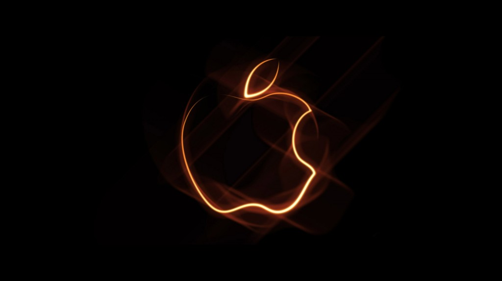 fondo_hd_169_logo_apple_luz_narnaja