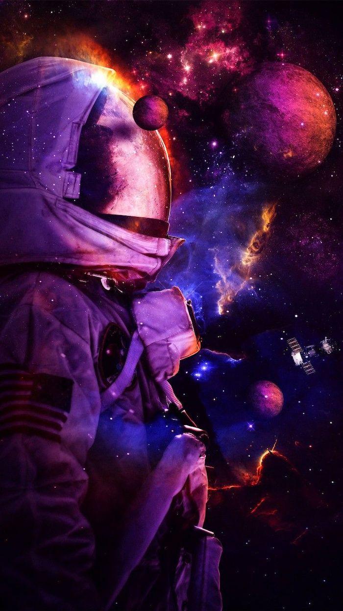 Fondo de un Astronauta en el espacio