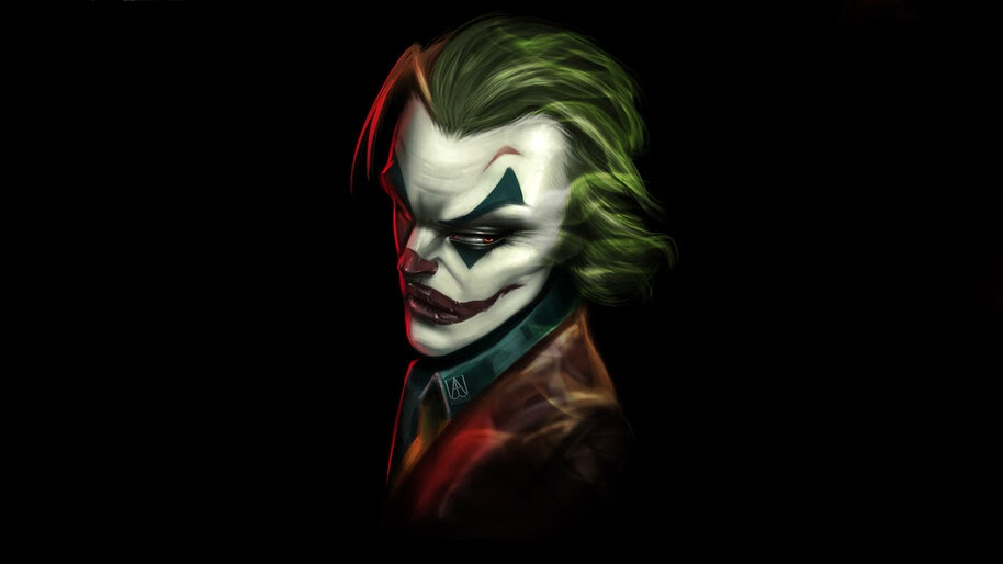 Dibujo en acuarela del Joker