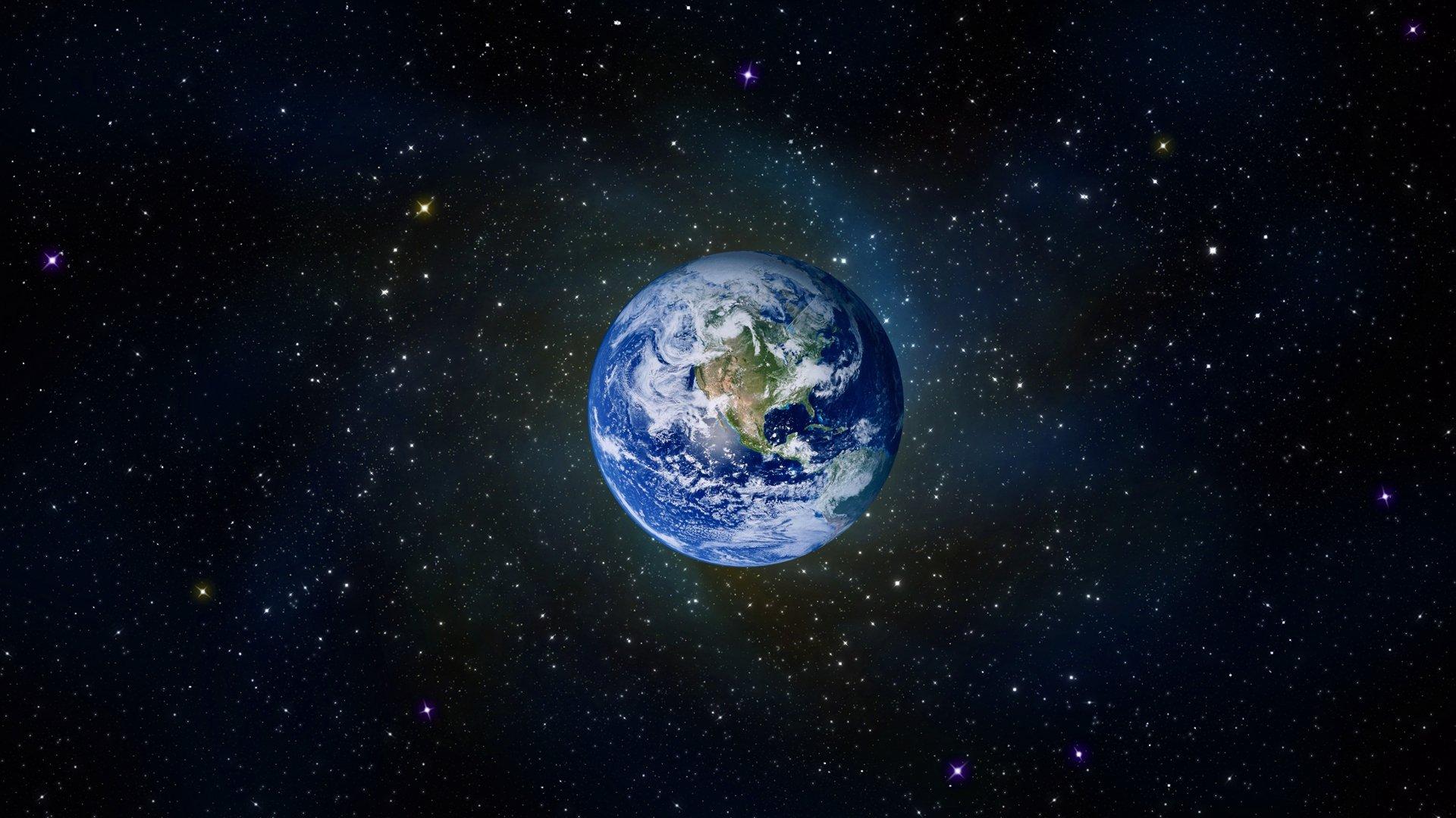 Mundo entre el espacio