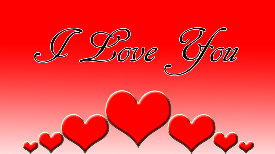 wallpapers i love you free download