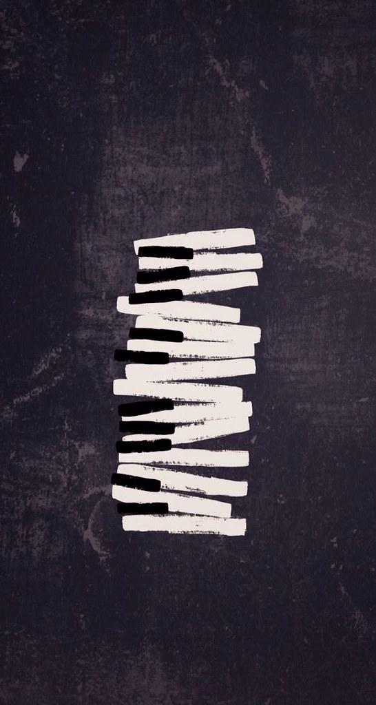 Fondo de teclas de piano music