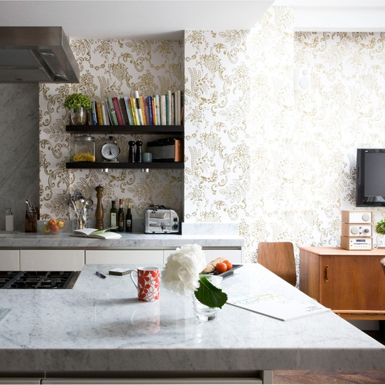 wallpaper kitchen cabinets
