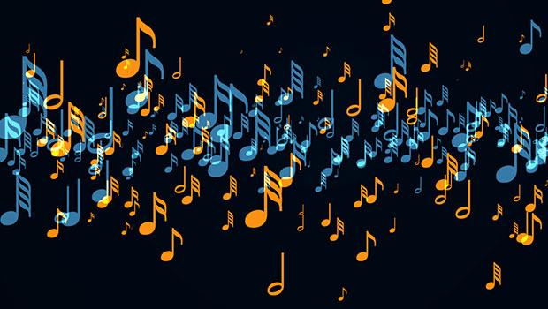 Fondo notas musicales HD