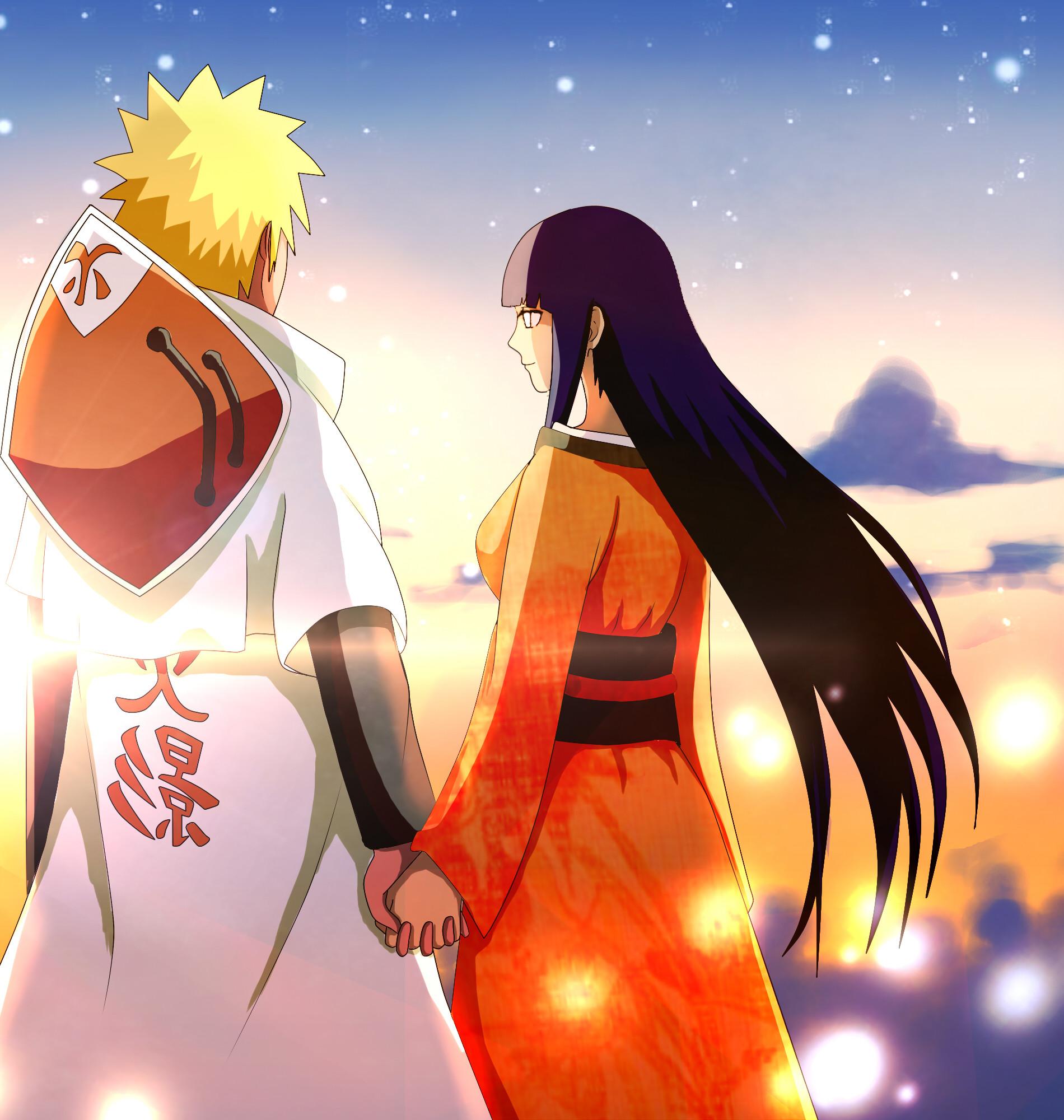Fondo de pantalla Naruto y Hinata