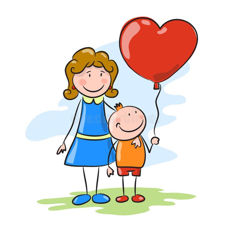 imagenes de madres e hijos animadas