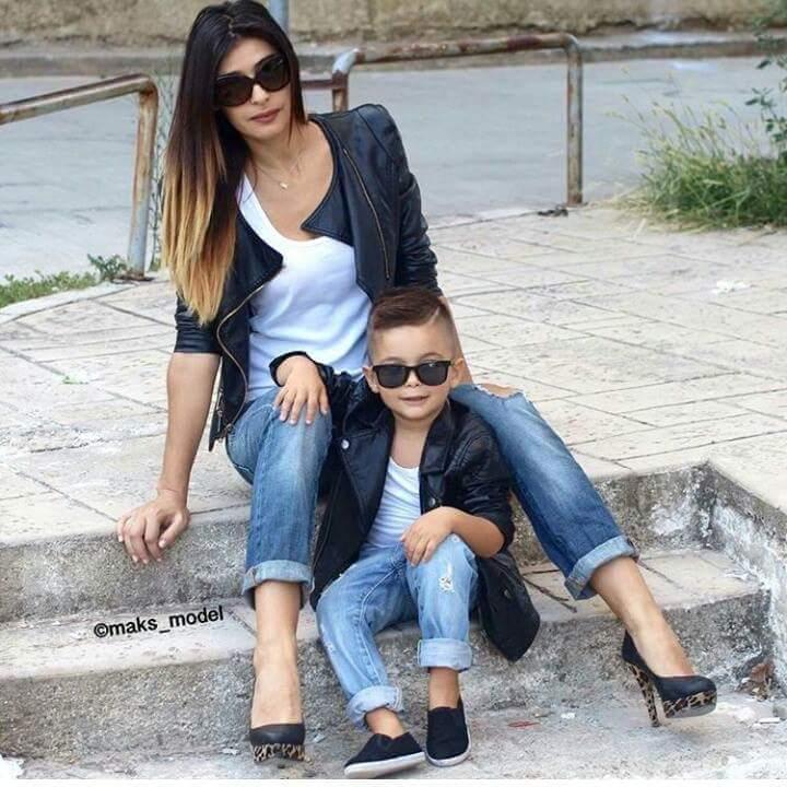 fotos de madres e hijos vestidos iguales