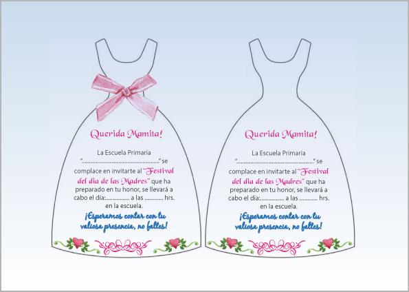 invitaciones para el dia de las madres en word
