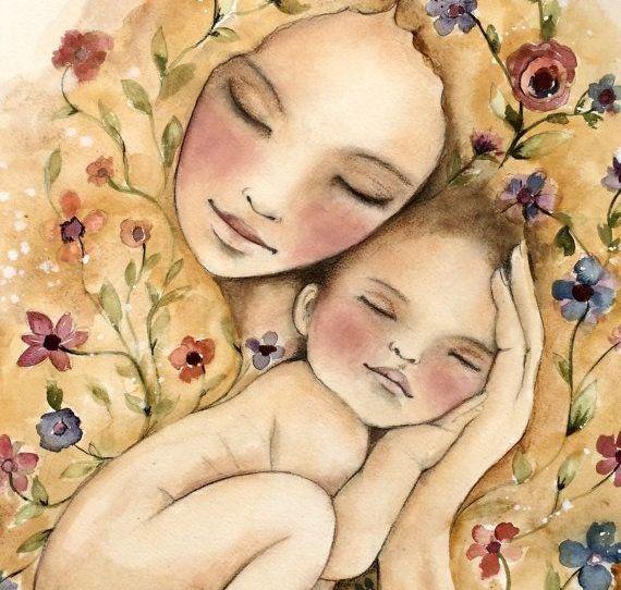 imagenes madre e hijo animadas