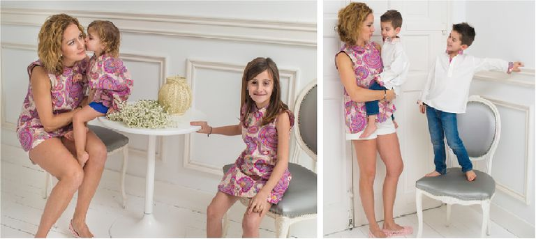 imagenes de mamas e hijos vestidos iguales