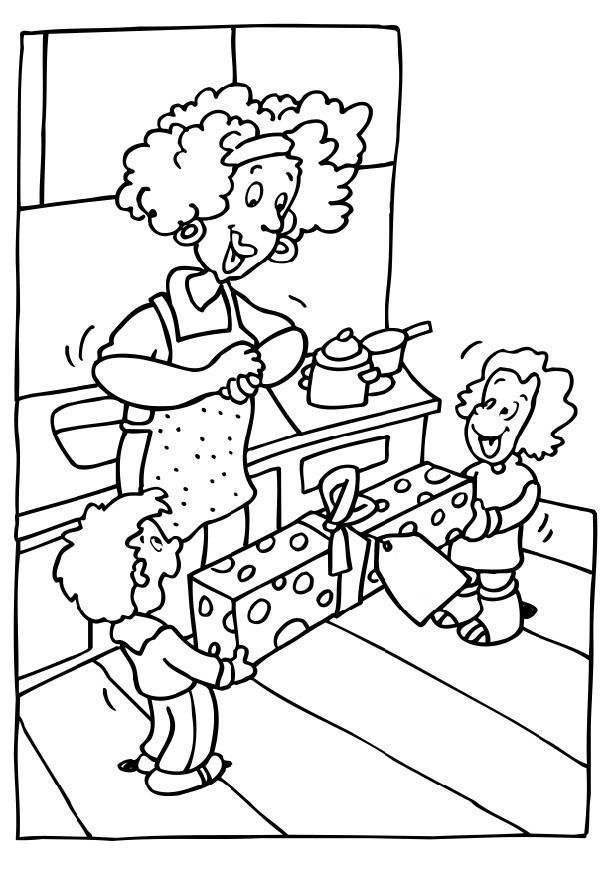 imagenes de madres cocinando para colorear