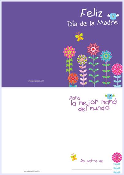 tarjetas del dia de la madre para imprimir y personalizar gratis