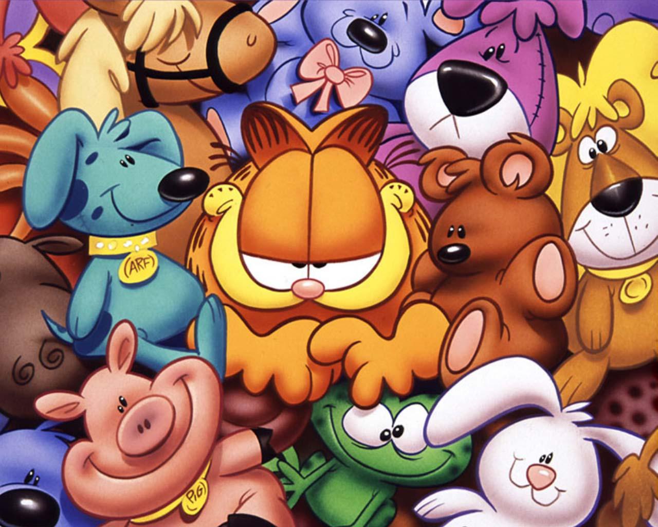 Wallpaper Garfield y sus amigos