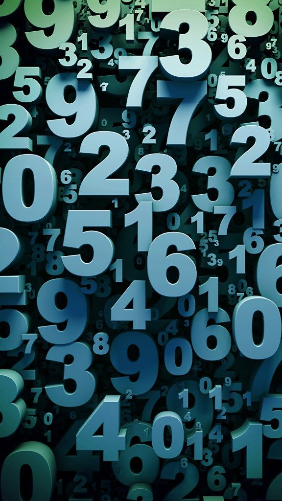 Wallpaper de numeros en 3D para Samsung S6