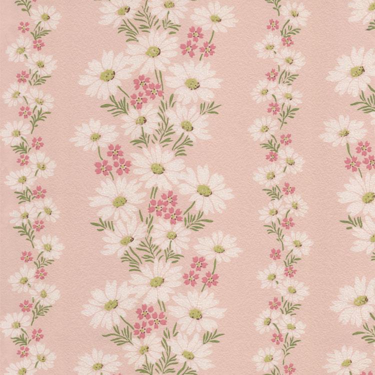vintage floral wallpaper pink