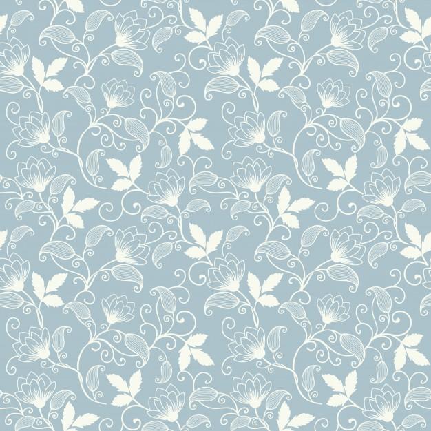 vintage flower wallpaper vector