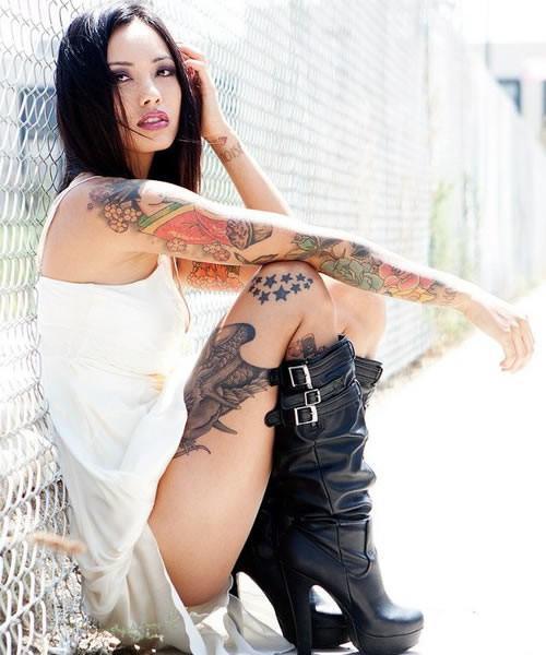 female tattoo models wallpaper