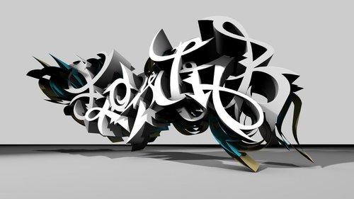 Fondos de graffitis3D