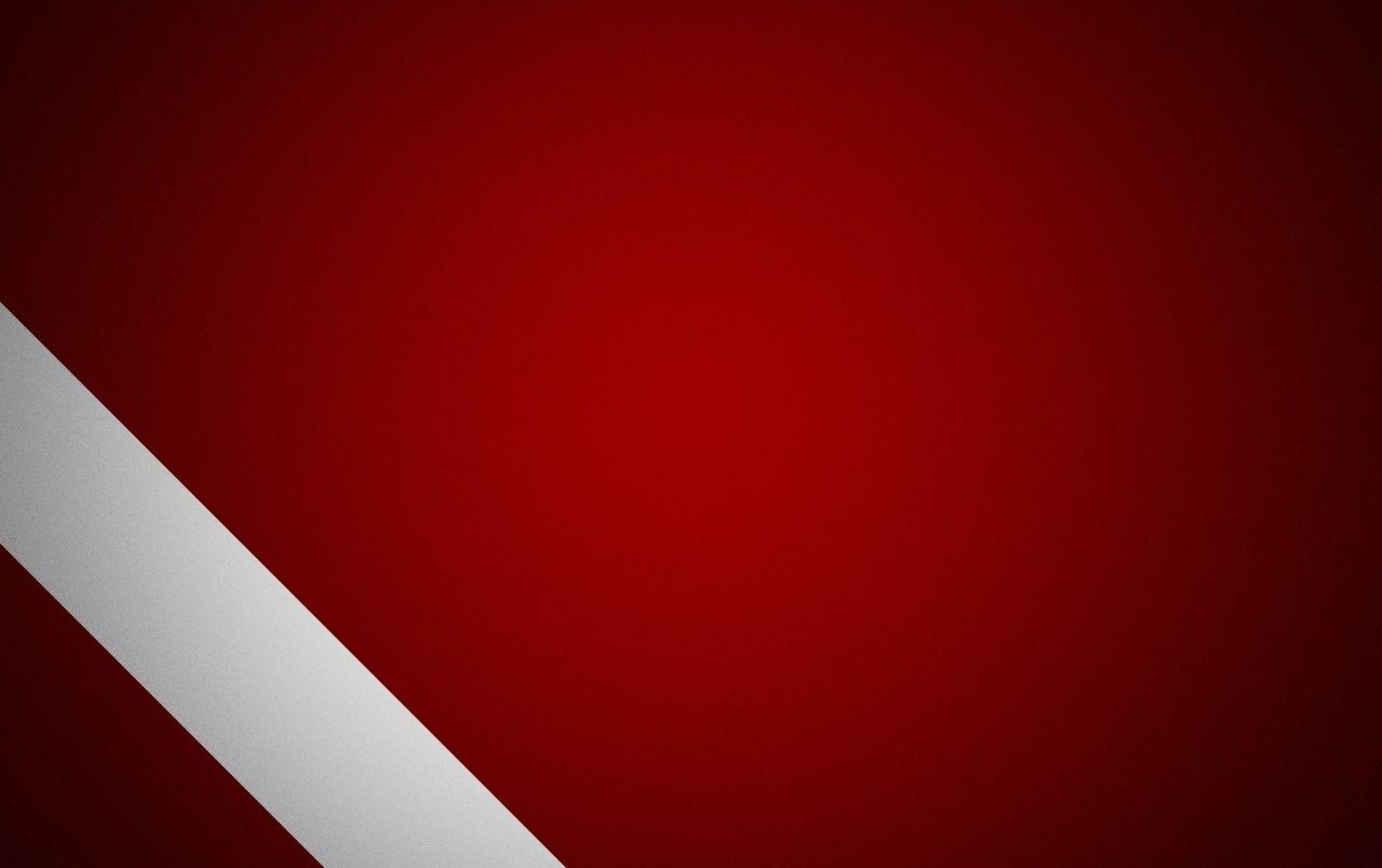 Fondo rojo y linea blanca