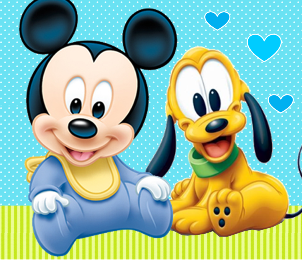 fondos para tarjetas de mickey bebe
