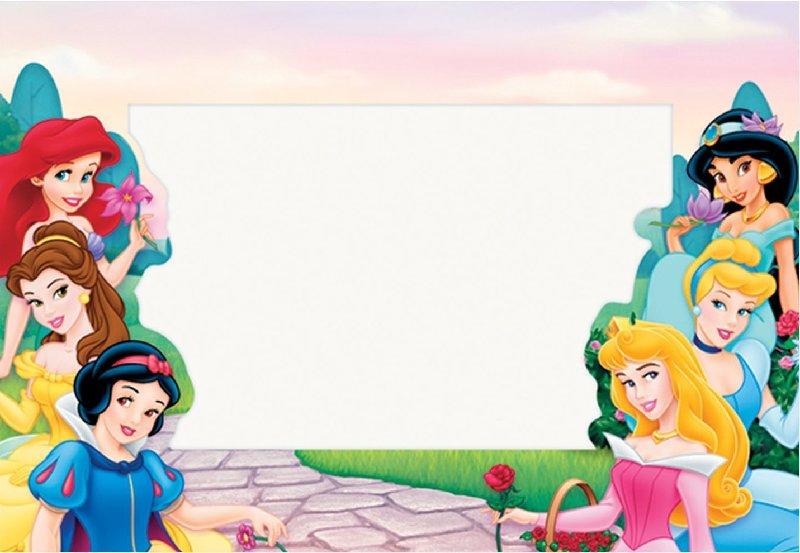 fondos de princesas para invitaciones
