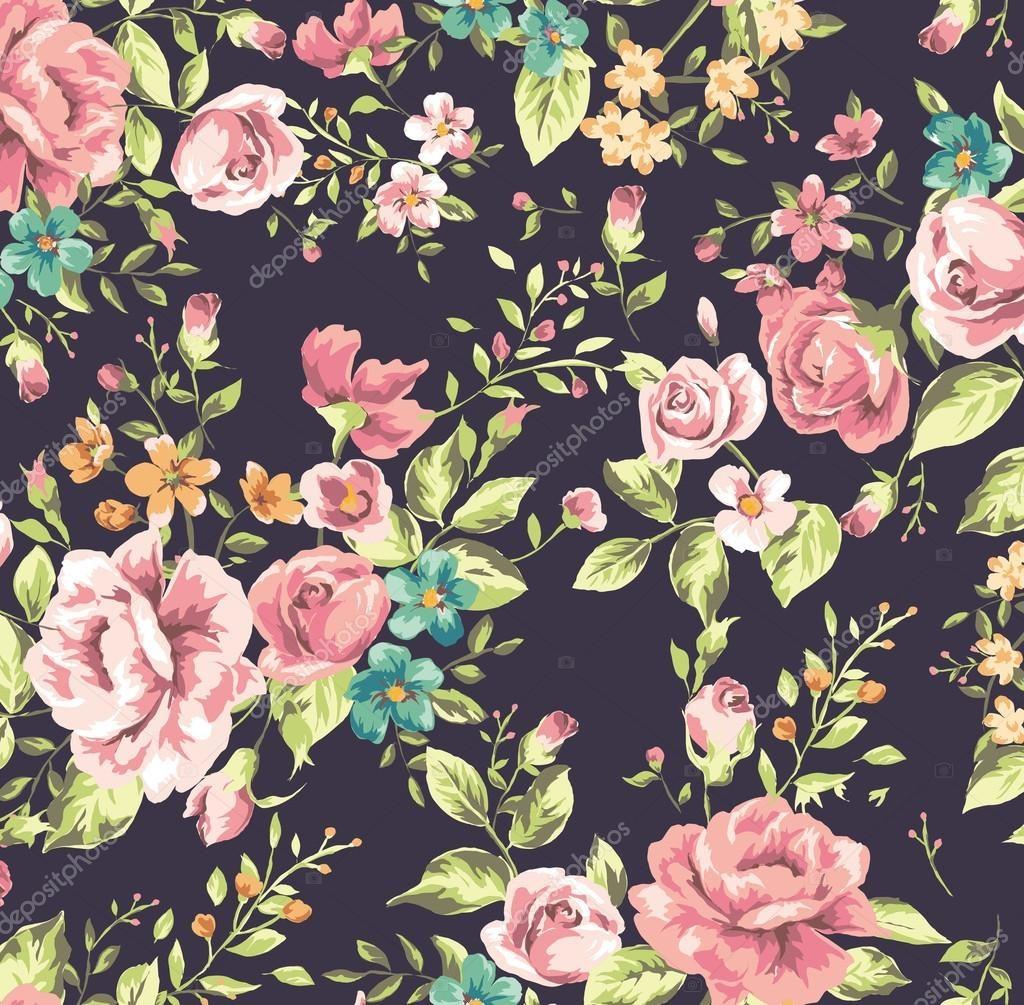 wallpaper vintage de rosas