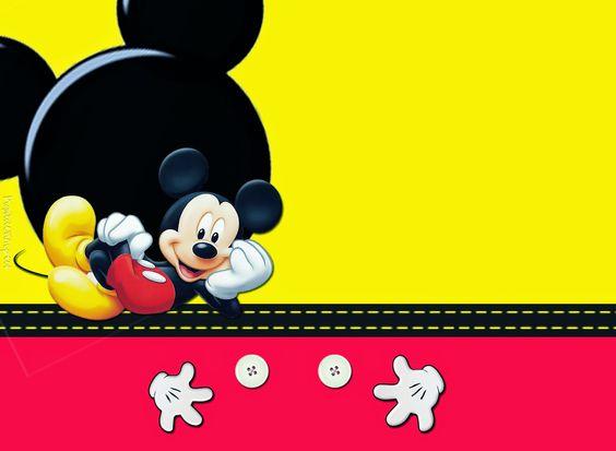 fondos de mickey mouse para invitaciones