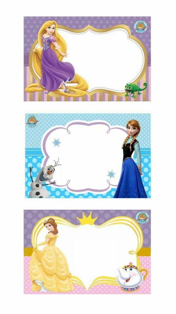 collage de cumpleaños de princesas