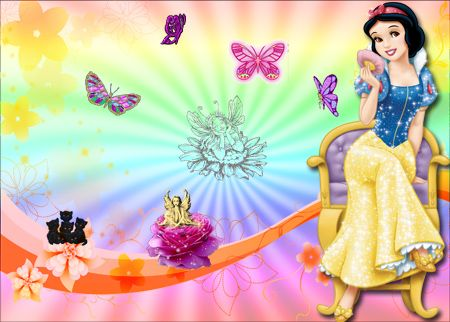 fondos de las princesas para fotomontajes