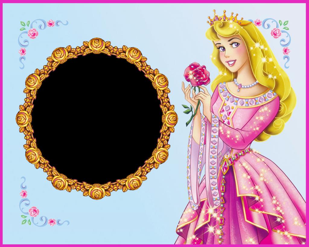 descargar marcos de princesas para fotos gratis